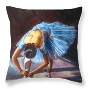 Tying Shoes Throw Pillow