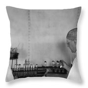 Typhoid: Vaccine, C1917 Throw Pillow