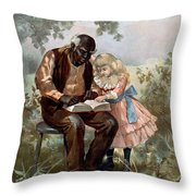 Uncle Toms Cabin, C1899 Throw Pillow