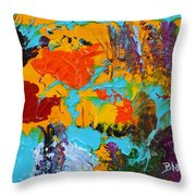 Under The Tropical Sea Throw Pillow