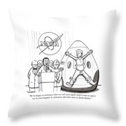 We're Happy To Announce That We Will Once Throw Pillow