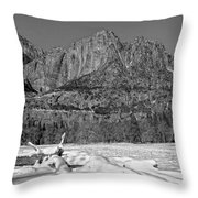 Snowy Yosemite Throw Pillow