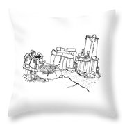 New Yorker February 23rd, 2009 Throw Pillow