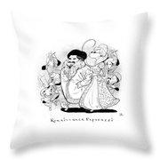 Captionless; Renaissance Paparazzi Throw Pillow