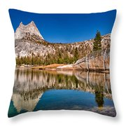 Upper Cathedral Lake Throw Pillow