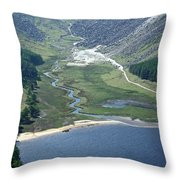 Upper Lake At Glendalough Throw Pillow