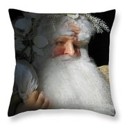 Upscale Father Christmas Throw Pillow
