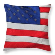 Us Flag On Memorial Day Throw Pillow