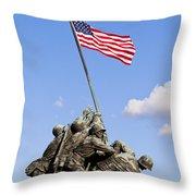 Us Marine Corps Memorial Throw Pillow