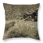 U.s. Soldiers Provide Security Throw Pillow