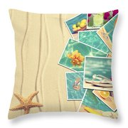 Vacation Postcards Throw Pillow