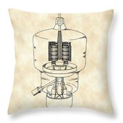 Vacuum Tube Patent 1942 - Vintage Throw Pillow