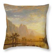 Valley Of The Yosemite Throw Pillow