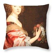 Van Dyck's Catherine Howard -- Lady D'aubigny Throw Pillow