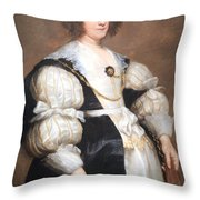 Van Dyck's Lady With A Fan Throw Pillow