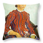 Van Gogh's La Mousme Throw Pillow