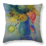 Vase Of Flowers Throw Pillow by Odilon Redon