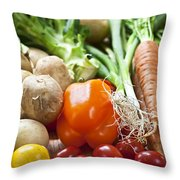 Vegetables Throw Pillow by Elena Elisseeva