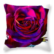 Velvet Rose Throw Pillow