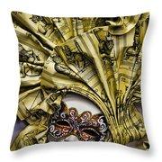 Venetian Carnaval Mask Throw Pillow