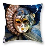 Venice Carnival Mask Throw Pillow