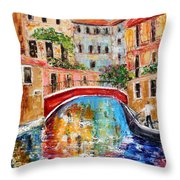 Venice Magic Throw Pillow