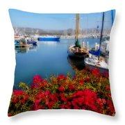 Ventura Harbor Throw Pillow