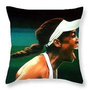 Venus Williams Throw Pillow by Paul Meijering