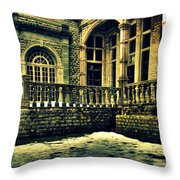 Viceregal Lodge Shimla Throw Pillow