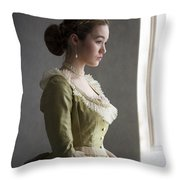 Victorian Woman At The Window Throw Pillow