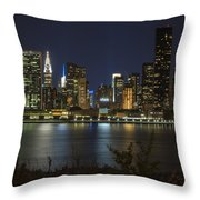 View From Gantry Plaza State Park Throw Pillow