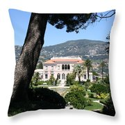 Villa Ephrussi De Rothschild Throw Pillow