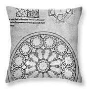 Villard De Honnecourt (c1225-1250) Throw Pillow
