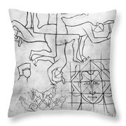 Villard De Honnecourt (c1225-c1250) Throw Pillow