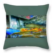 Vintage Airplanes Throw Pillow