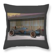 Vintage Dragster Throw Pillow