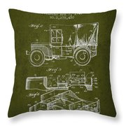 Vintage Military Vehicle Patent From 1942 Throw Pillow