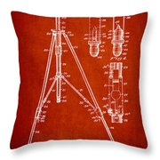 Vintage Tripod Patent Drawing From 1941 Throw Pillow by Aged Pixel