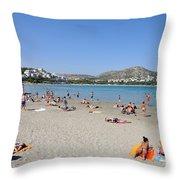 Vouliagmeni Beach Throw Pillow