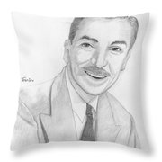 Walt Disney Throw Pillow by M Valeriano
