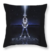 Warriors Creed Throw Pillow by Cliff Hawley