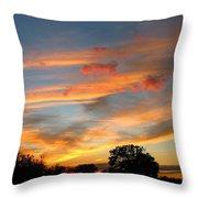 Evening Washington Monument Throw Pillow