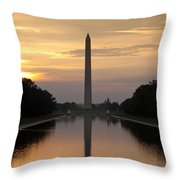 Washington Monument Sunrise Throw Pillow