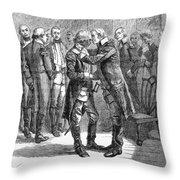 Washingtons Farewell Throw Pillow