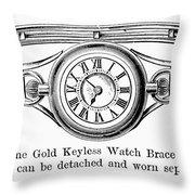 Watch Bracelet, 1891 Throw Pillow