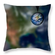 Water And Earth Throw Pillow