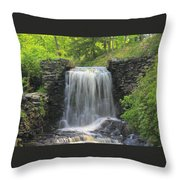 Water Fall Moore State Park Throw Pillow