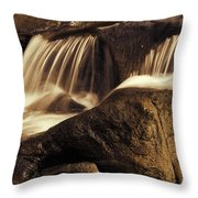 Water Flow Throw Pillow