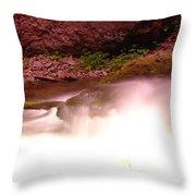 Water Over Rock  Throw Pillow