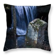 Waterfall At The Ruins Throw Pillow
